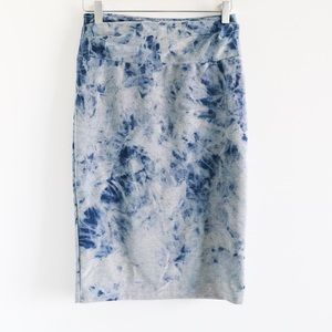 Zili Otto tie-dye stretch high-waist pencil skirt